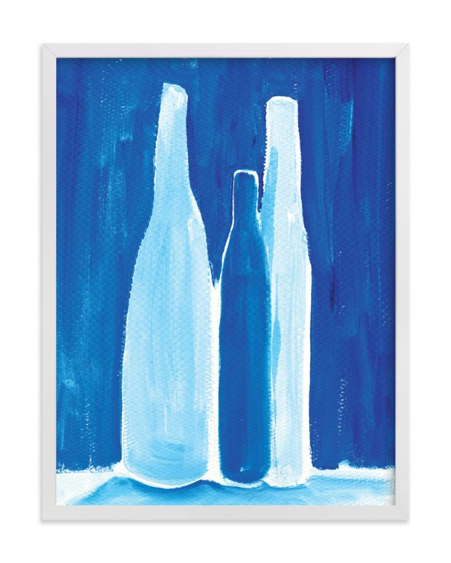 """3 bottles"" - Art Print by Robin Ott in beautiful frame options and a variety of sizes."