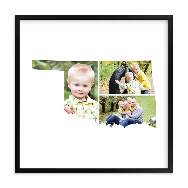 """""""Oklahoma Love Location"""" - Custom Photo Art Print by Heather Buchma in beautiful frame options and a variety of sizes."""