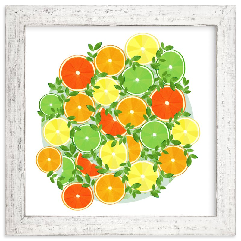 """A Slice of Citrus"" - Art Print by Katie Tandlmayer in beautiful frame options and a variety of sizes."