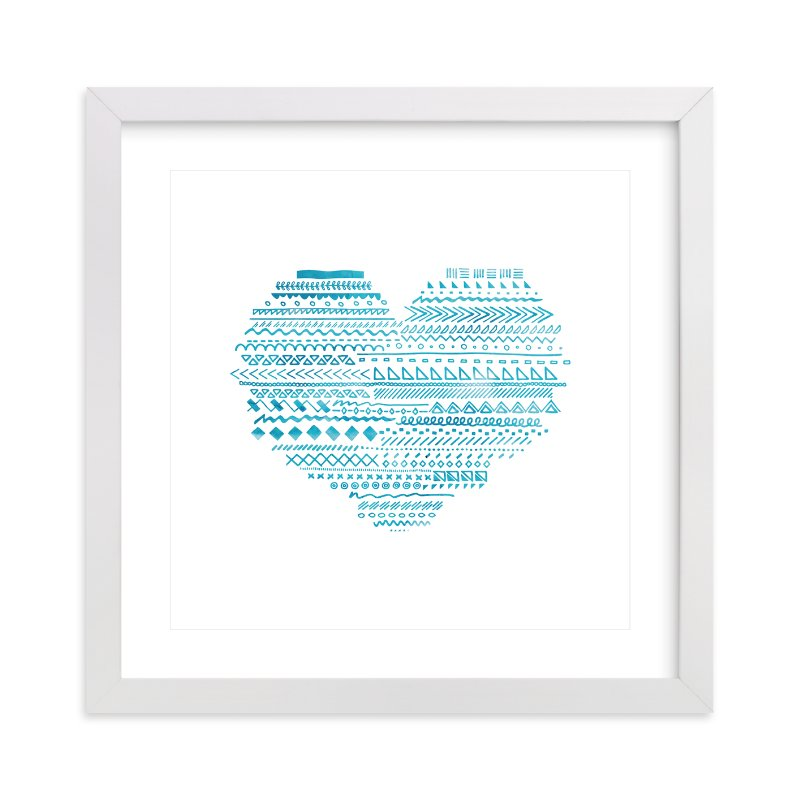 """""""Doodle Heart"""" - Art Print by Chasity Smith in beautiful frame options and a variety of sizes."""