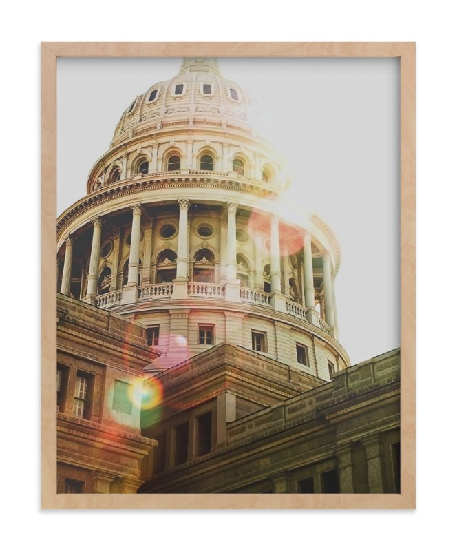 """Texas Capitol"" - Art Print by Hanna Mac in beautiful frame options and a variety of sizes."