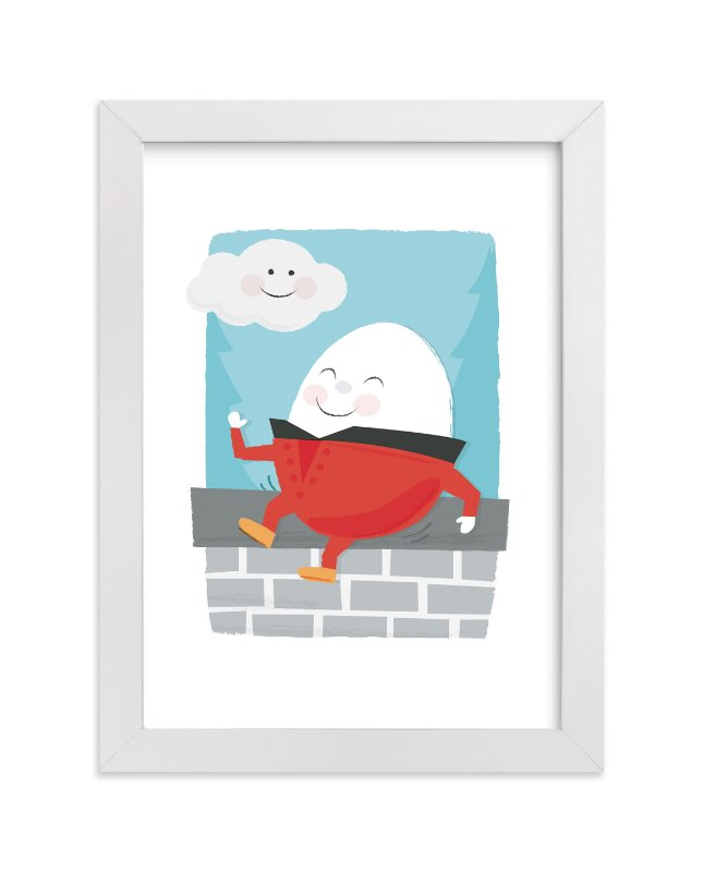 """Humpty Dumpty"" - Art Print by Jessie Steury in beautiful frame options and a variety of sizes."