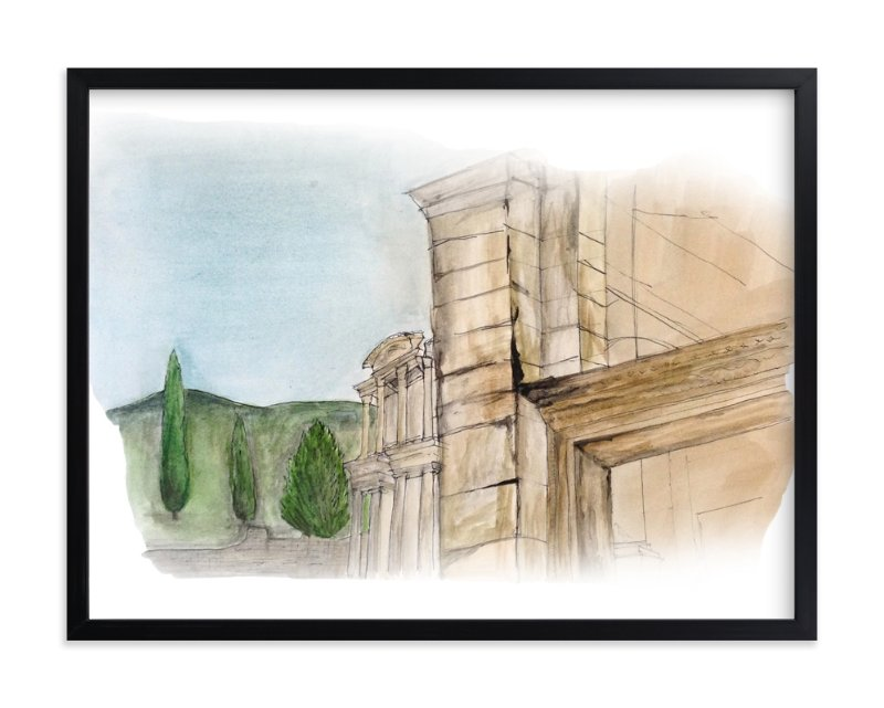 """""""Turkish Landscape"""" - Art Print by Haley Moore in beautiful frame options and a variety of sizes."""