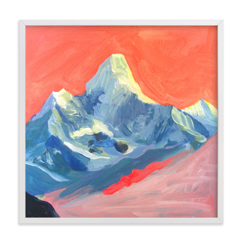"""Technicolor Mt Everest"" - Art Print by June Chang in beautiful frame options and a variety of sizes."