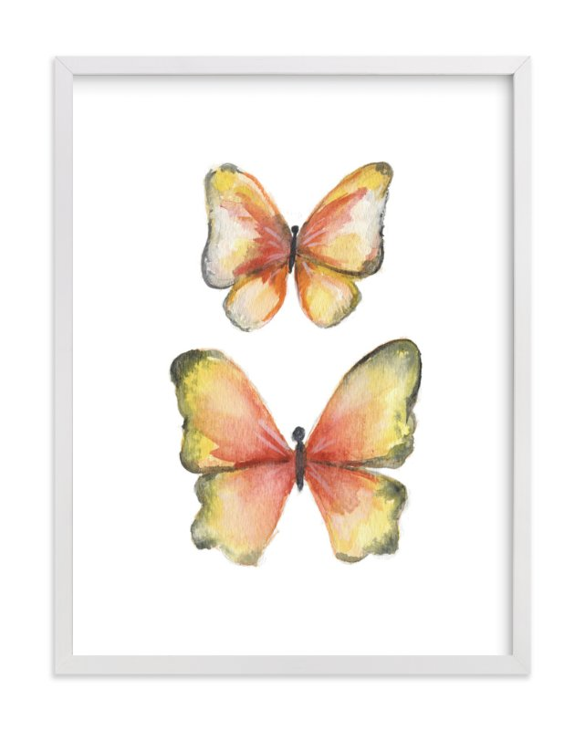"""Rhopalocera Two"" - Art Print by Erin Deegan in beautiful frame options and a variety of sizes."