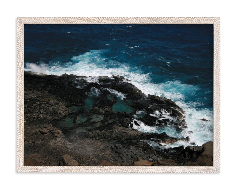 """""""Tidal Pools & Crashing Waves"""" - Art Print by Whitney Todd in beautiful frame options and a variety of sizes."""
