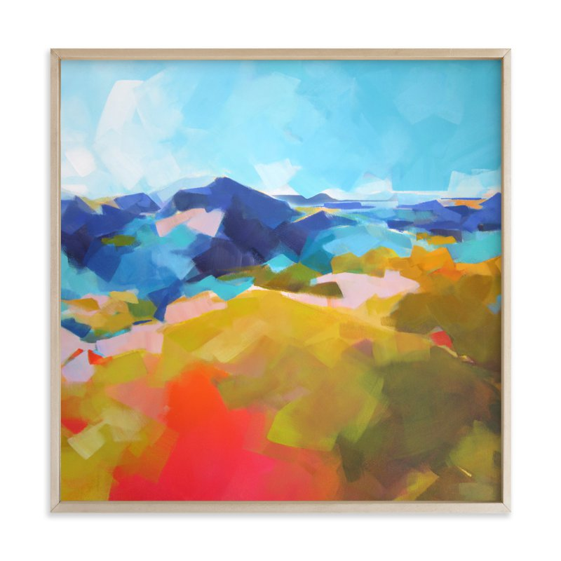 """""""Blue Ridge"""" - Art Print by Jess Franks in beautiful frame options and a variety of sizes."""