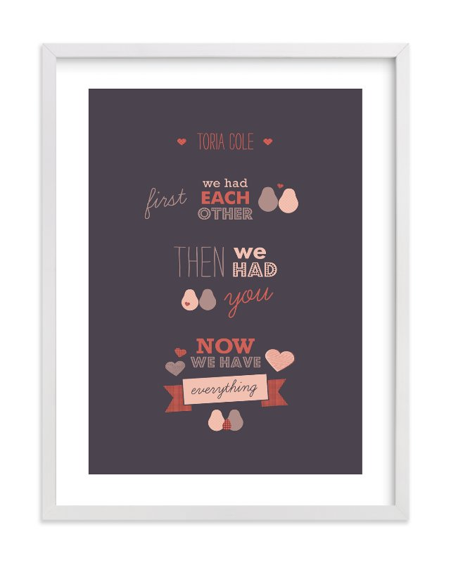 """""""We Three"""" - Nursery Custom Art Print by Picklelily in beautiful frame options and a variety of sizes."""