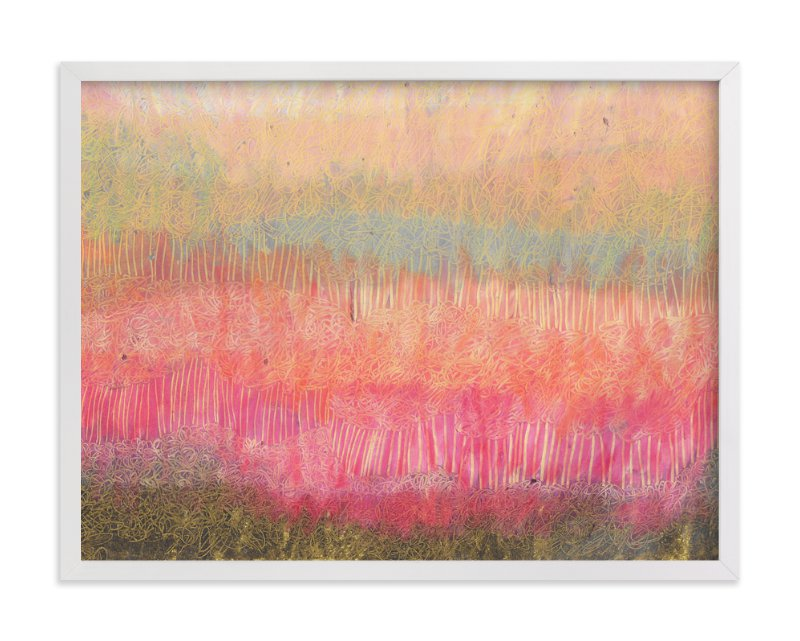 """""""Forest Dusk"""" - Art Print by Pooja Pittie in beautiful frame options and a variety of sizes."""