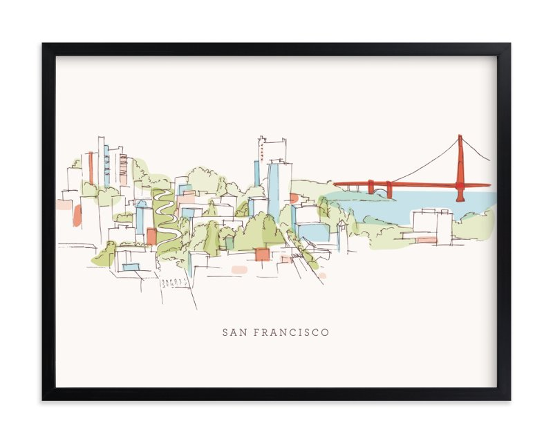 """I Love San Francisco"" - Art Print by Four Wet Feet Studio in beautiful frame options and a variety of sizes."