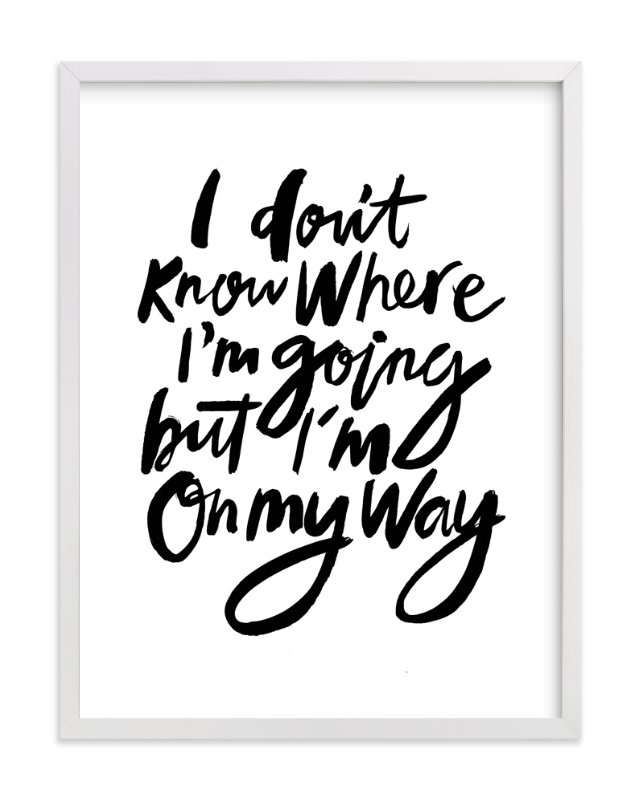 """on my way"" - Art Print by Cass Loh in beautiful frame options and a variety of sizes."