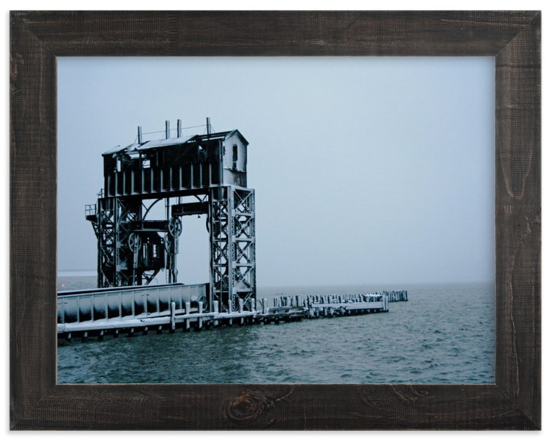 """riverside freeze"" - Art Print by AJD in beautiful frame options and a variety of sizes."