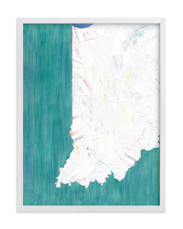 """""""Indiana in Paint"""" - Art Print by Denise Wong in beautiful frame options and a variety of sizes."""