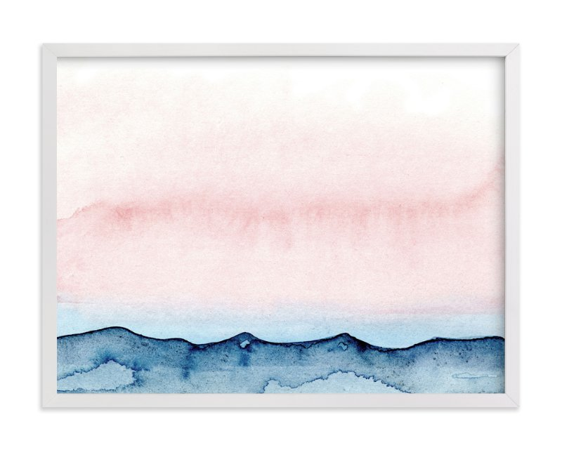 """""""Big Sky"""" - Art Print by Me Amelia in beautiful frame options and a variety of sizes."""