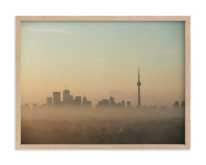 """Morning Toronto"" - Art Print by XL in beautiful frame options and a variety of sizes."
