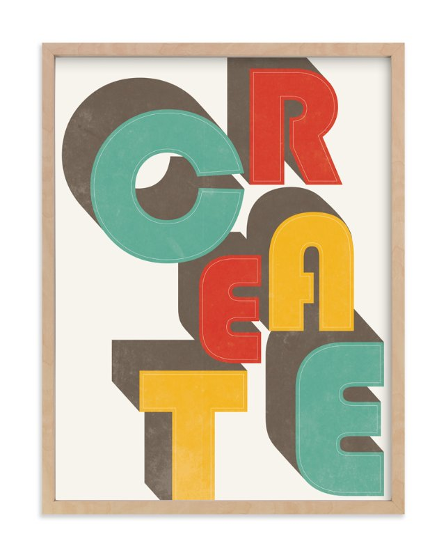 """""""CreAte"""" - Art Print by Jennifer Morehead in beautiful frame options and a variety of sizes."""