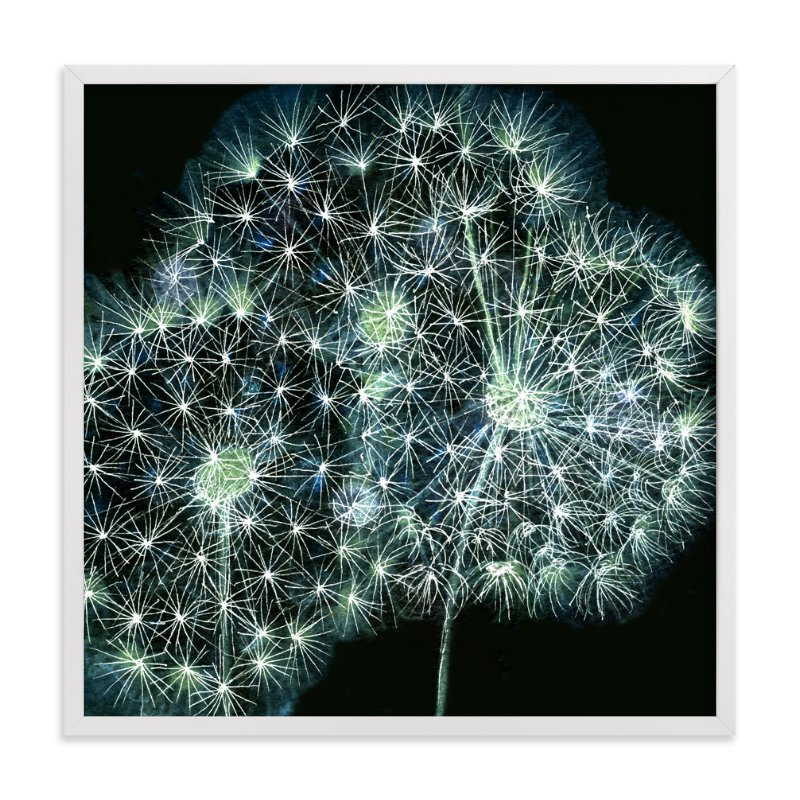 """Dandelion Wow"" - Art Print by Me Amelia in beautiful frame options and a variety of sizes."