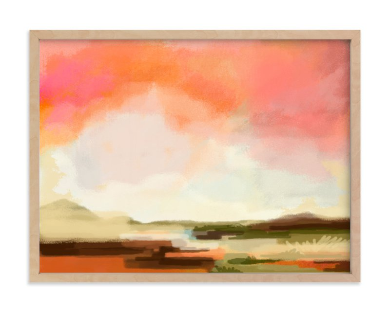 """Desert Walk"" - Art Print by Alison Jerry Designs in beautiful frame options and a variety of sizes."