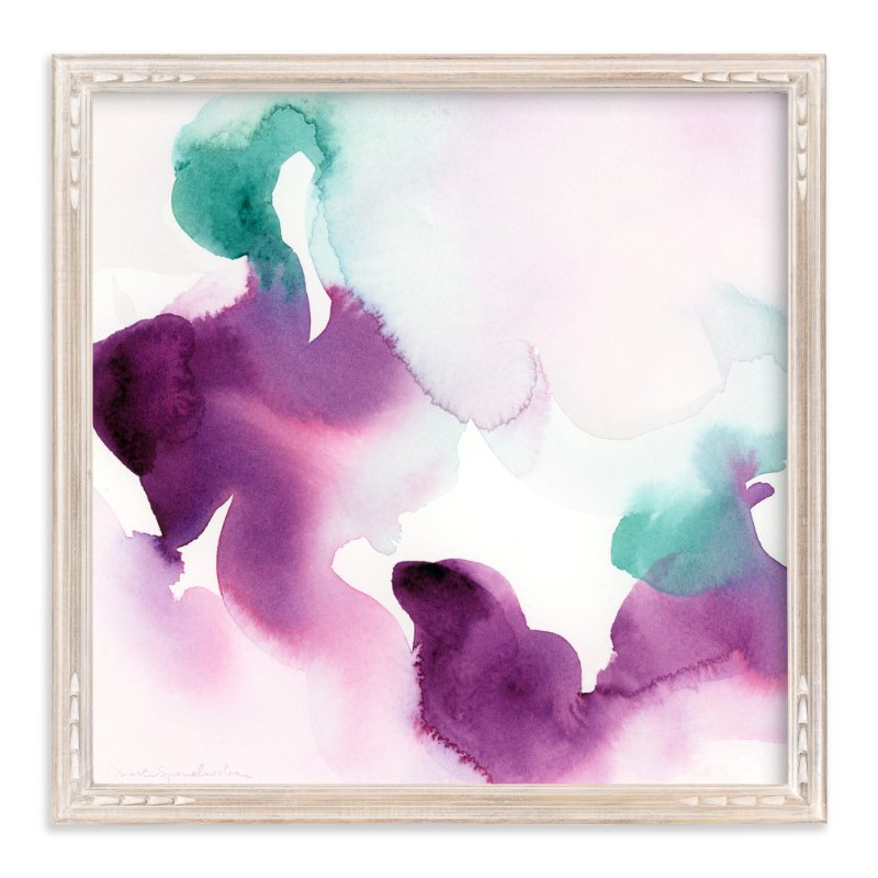 """Watercolor Abstract Flora Series : Solice"" - Art Print by Marta Spendowska in beautiful frame options and a variety of sizes."