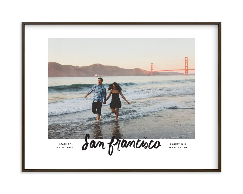 """San Francisco Script"" - Custom Photo Art Print by Olivia Kanaley in beautiful frame options and a variety of sizes."