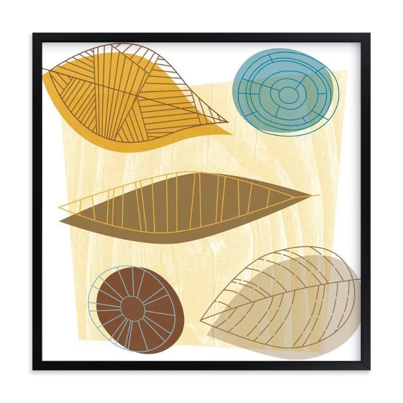 """""""Urban Leaves """" - Art Print by Smudge Design in beautiful frame options and a variety of sizes."""