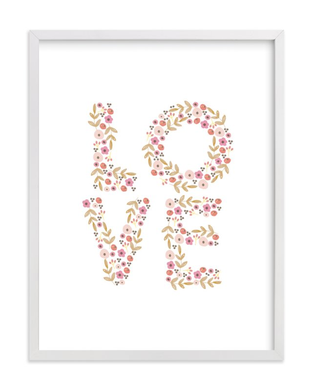 """""""Love"""" - Art Print by August and Oak in beautiful frame options and a variety of sizes."""