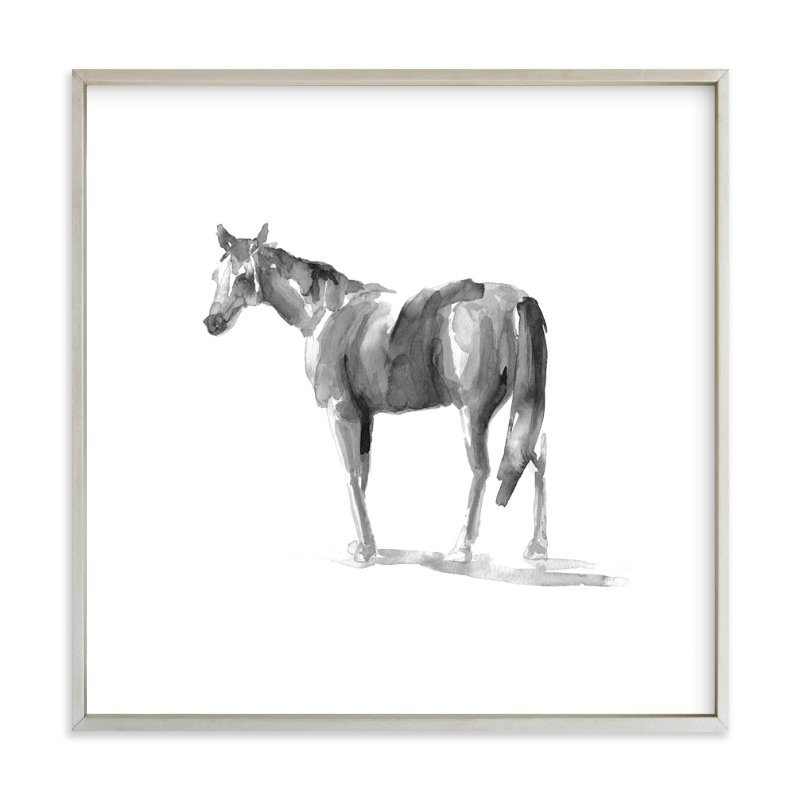 """Urban Equestrian"" - Art Print by The Carillos in beautiful frame options and a variety of sizes."