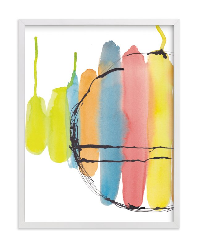 """""""Frozen Popsicles"""" - Art Print by Deborah Velasquez in beautiful frame options and a variety of sizes."""
