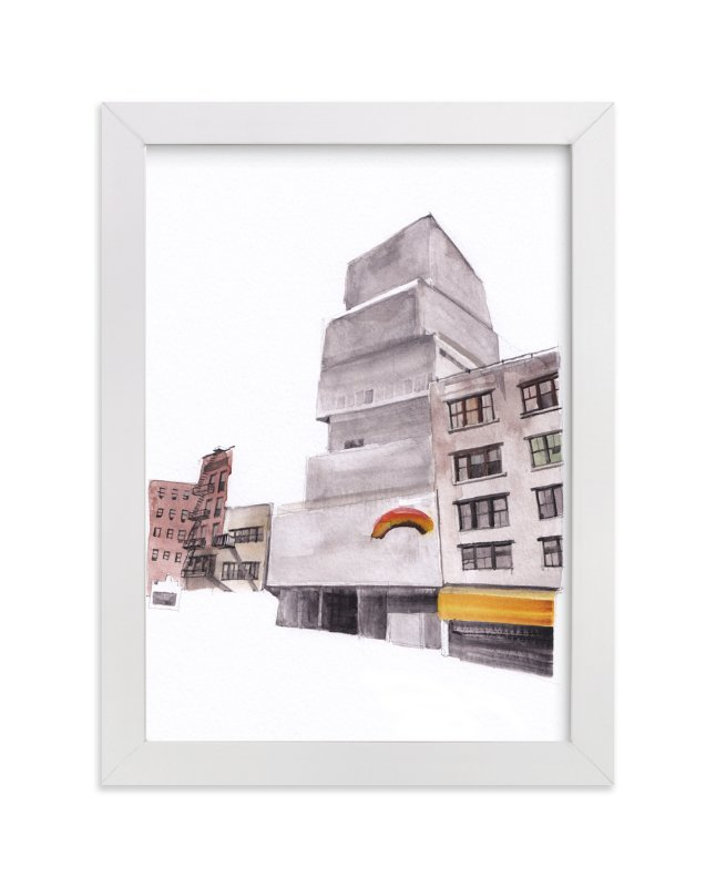 """New York Street"" - Art Print by Viktoria Eperjesi in beautiful frame options and a variety of sizes."
