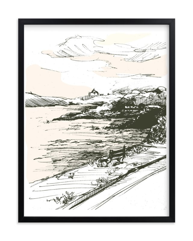 """the drive"" - Art Print by pottsdesign in beautiful frame options and a variety of sizes."