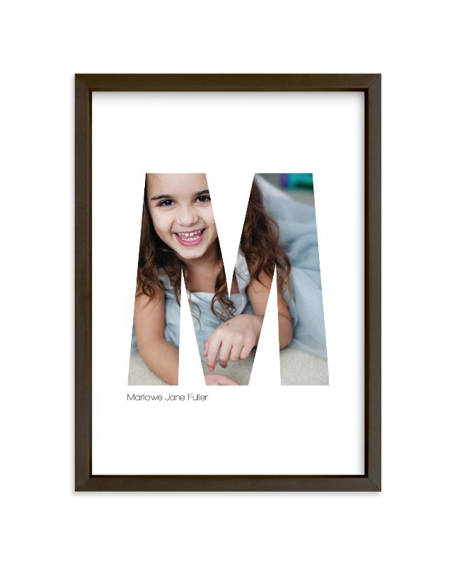 """""""M - Within Letters of You"""" - Children's Custom Photo Art Print by Heather Francisco in beautiful frame options and a variety of sizes."""
