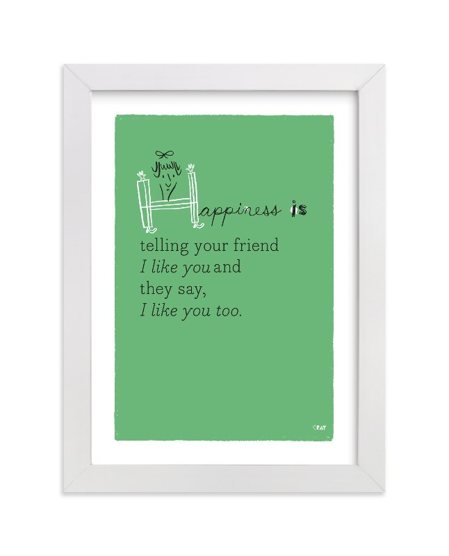 """""""Happiness Is..."""" - Children's Custom Art Print by ERAY in beautiful frame options and a variety of sizes."""