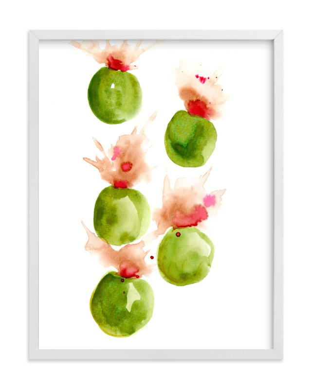 """Exploding Olives"" - Art Print by Me Amelia in beautiful frame options and a variety of sizes."