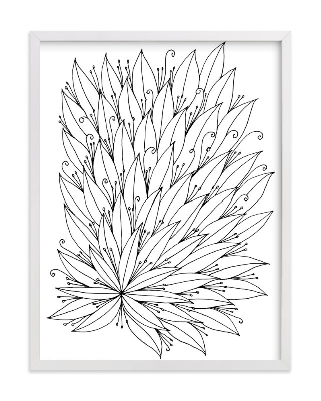 """full of leaves"" - Art Print by aticnomar in beautiful frame options and a variety of sizes."