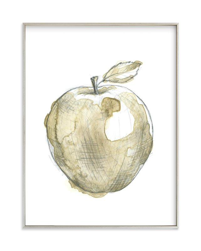 """""""Eat More Fruits - Apple"""" - Art Print by Susanne Kasielke in beautiful frame options and a variety of sizes."""