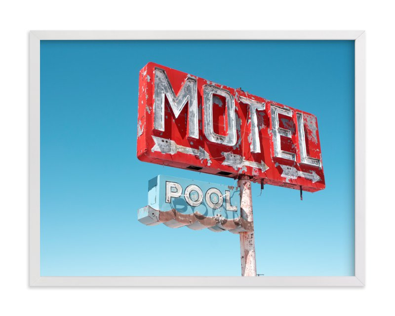 """""""Hotels & Motels"""" - Art Print by Calais Le Coq in beautiful frame options and a variety of sizes."""