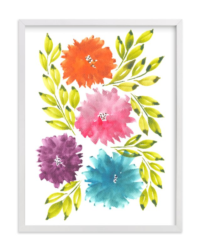 """""""hand painted flowers_1K"""" - Art Print by aticnomar in beautiful frame options and a variety of sizes."""