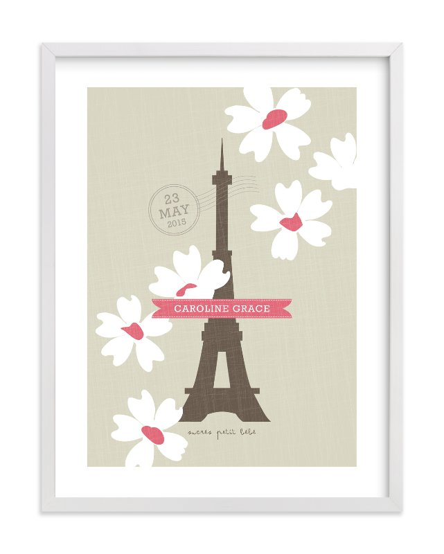 """Spring Time in Paris"" - Children's Custom Art Print by Kristie Kern in beautiful frame options and a variety of sizes."