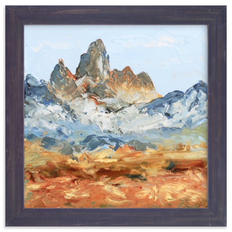 """Le Grand Teton"" - Art Print by Laura Morris in beautiful frame options and a variety of sizes."