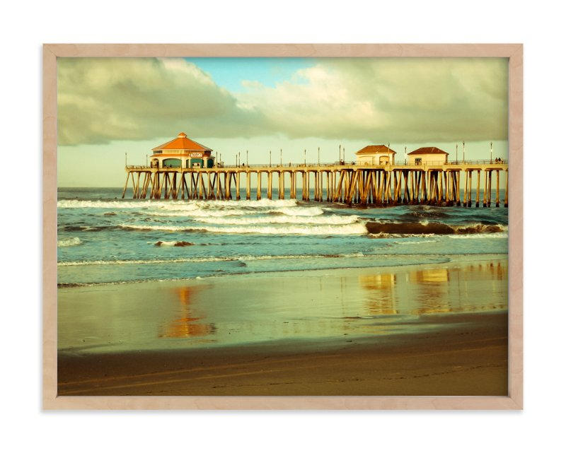 Huntington Beach Wall Decor : Huntington beach surf pier wall art prints by debra butler