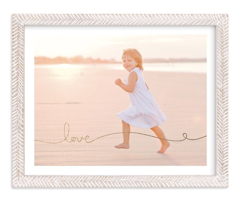 """Love Line"" - Foil-pressed Photo Art Print by Kelly Ventura in beautiful frame options and a variety of sizes."