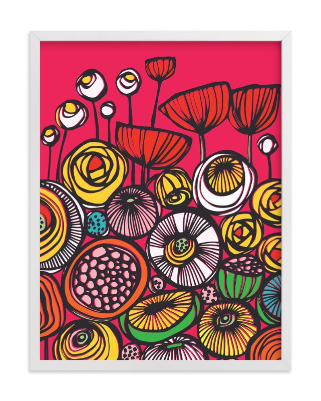 """Pop Art Blooms"" - Art Print by Gill Eggleston in beautiful frame options and a variety of sizes."