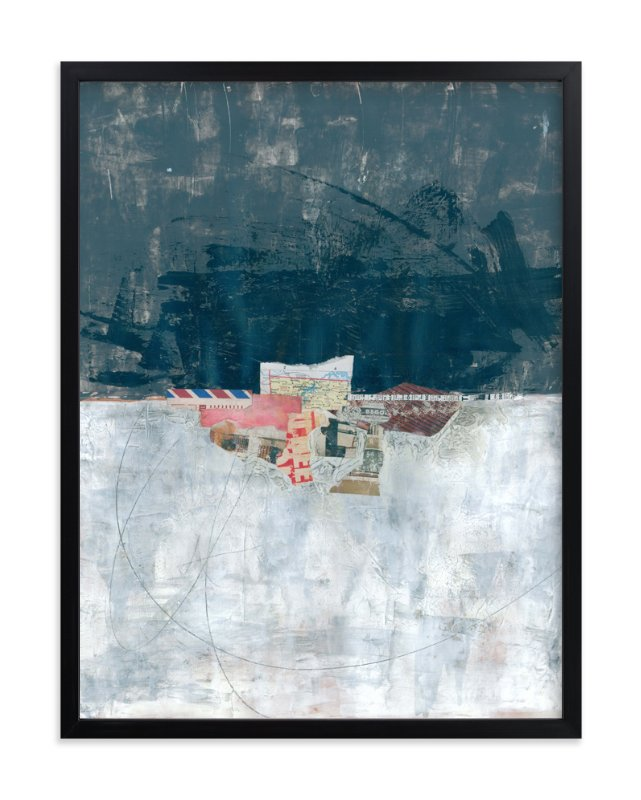 """""""Paper Horizon"""" - Art Print by Misty Hughes in beautiful frame options and a variety of sizes."""