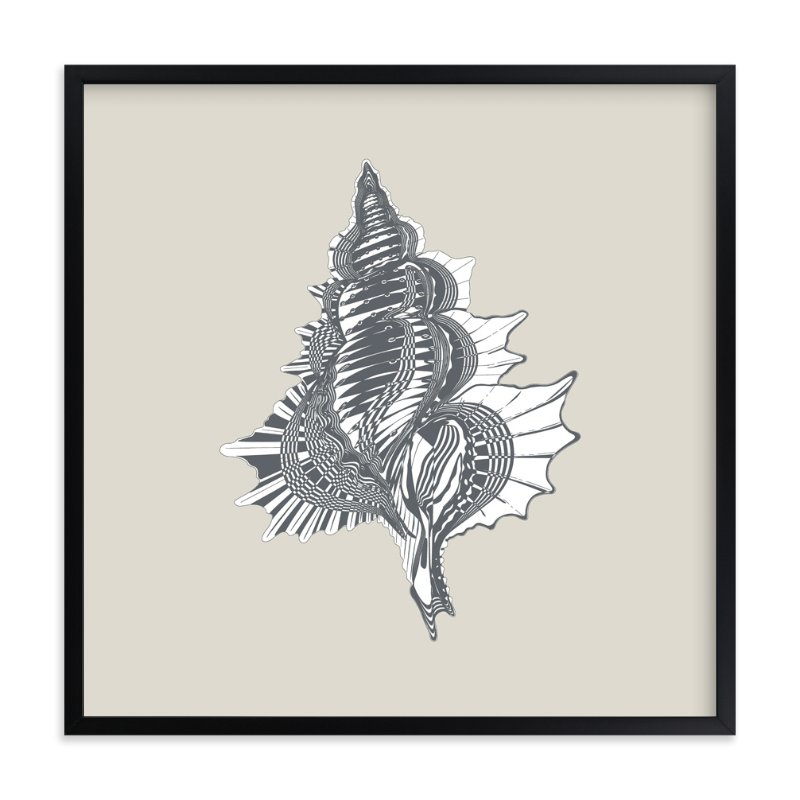 """Seashell 4"" - Art Print by Oma N. Ramkhelawan in beautiful frame options and a variety of sizes."