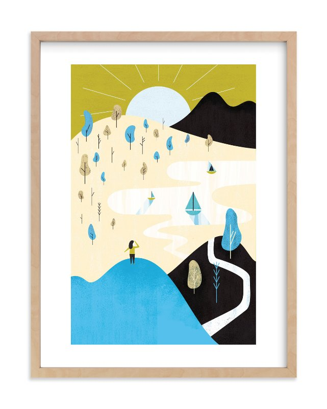 """Mountain Sun"" - Limited Edition Art Print by Morgan Ramberg in beautiful frame options and a variety of sizes."