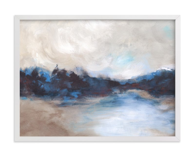 """""""Saint Mary's Lake"""" - Art Print by Lorent and Leif in beautiful frame options and a variety of sizes."""