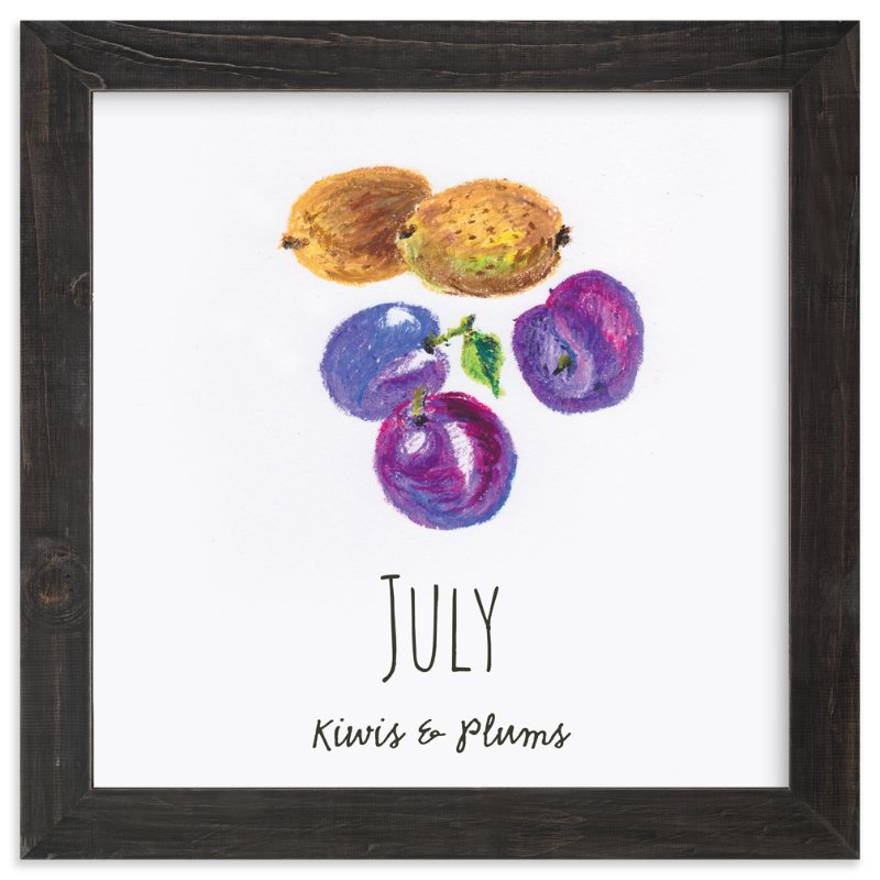 """July fruits"" - Art Print by Kanika Mathur in beautiful frame options and a variety of sizes."