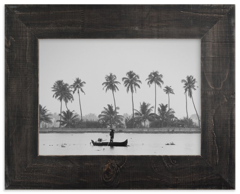 """""""Fisherman and his Canoe"""" - Limited Edition Art Print by HafnHafStudio in beautiful frame options and a variety of sizes."""