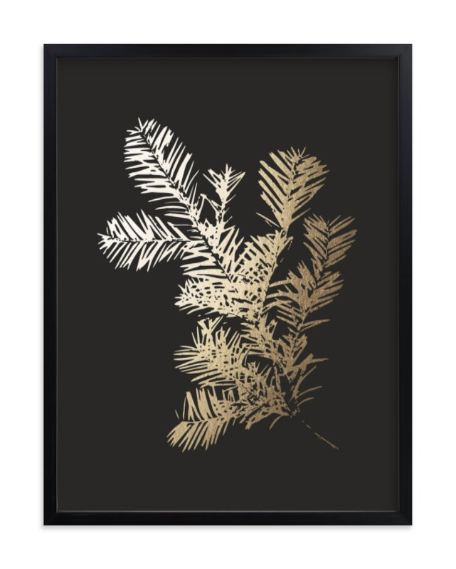 """Silver Fir"" - Foil-pressed Art Print by LemonBirch Design in beautiful frame options and a variety of sizes."