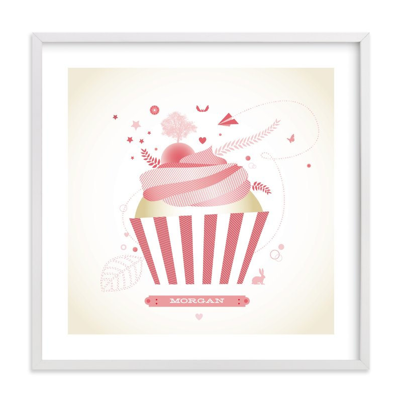 """Cupcake Landscape"" - Nursery Custom Art Print by Diana Steinsnyder in beautiful frame options and a variety of sizes."